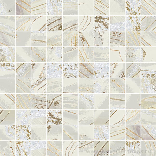 Фото плитки Ceramiche Brennero La Preziosa : Mos. Q.Legend Mix Light, 30x30 в интерьере